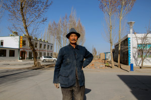 An old farmer in Zhangye, Western China.